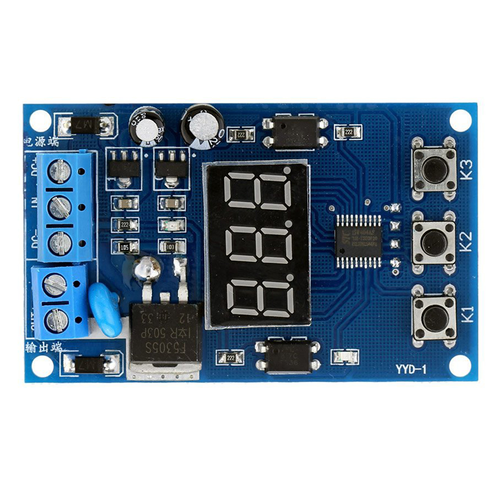 Multi-function MOS Control Relay Cycle Timer Module Delay Time Switch DC 12/24V free shipping dc 24v 0 60s 60 seconds rotary knob timer time delay relay 8 pin ah3 3