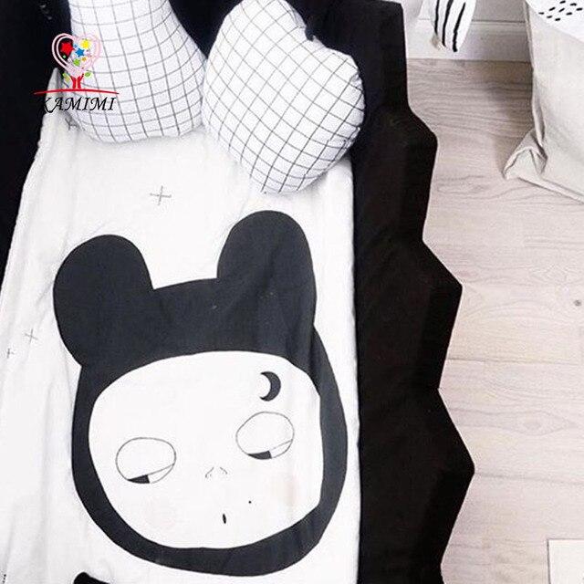 KAMIIMI 2017 Face Style Fashion Cotton Baby Blankets Newborn Baby Game Blanket Playmat Baby Pattern Quilt  Blankets XYM457