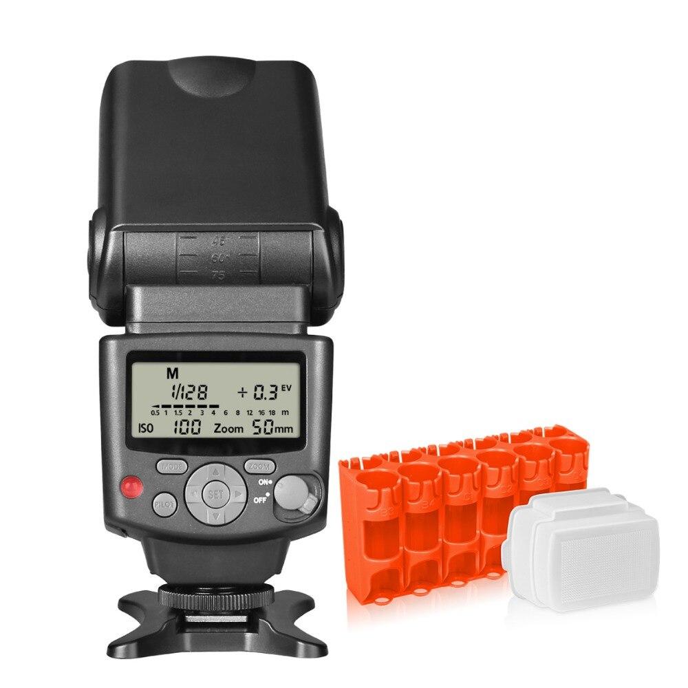 Voking VK430 E-TTL écran LCD Blitz Speedlite pour appareil photo reflex numérique Canon + support Speedlite + chiffon de nettoyage d'objectif