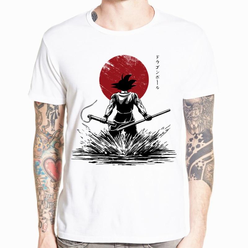 Dragon Ball Z Goku manga corta Camiseta o-cuello camiseta Saiyan Vegeta Harajuku marca ropa camiseta HCP316