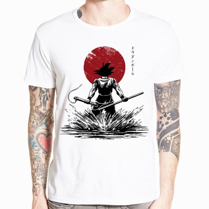 Dragon Ball Z Goku Camiseta de manga corta cuello redondo Camiseta verano Saiyan Vegeta Harajuku marca camiseta HCP316