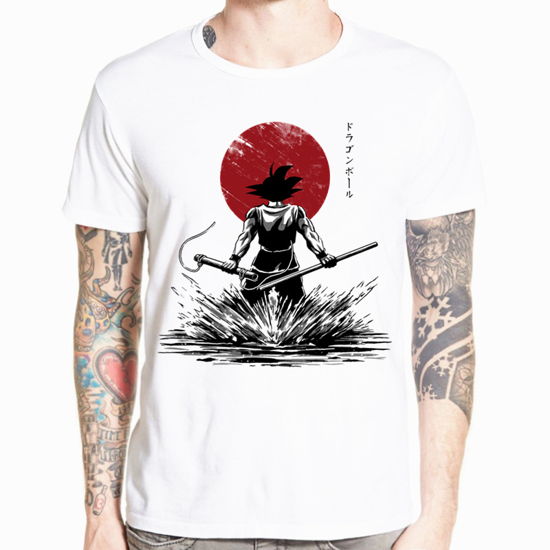 Dragon Ball Z Goku T-shirt Kortærmet O-Neck T-shirt Summer Saiyan Vegeta Harajuku mærketøj T-shirt HCP316