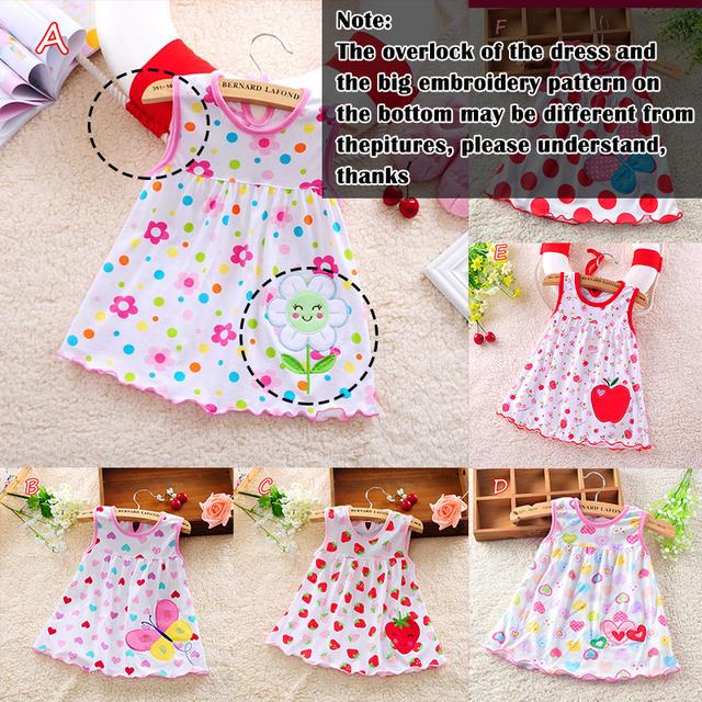 Kids Cartoon Floral Dress