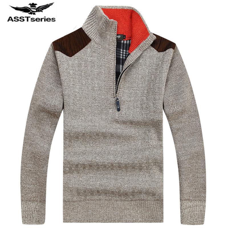 Afs JEEP 2017 The New Casual Cardigan Men Sweaters Solid Color Knitwear Autumn Warm Men Sweatercoat Men's Sweaters  60