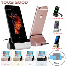 Desktop Charging Base Dock Station For iPhone X 8 7 6 USB Cable Sync Cradle Charger Android Type C Samsung Stand Holder