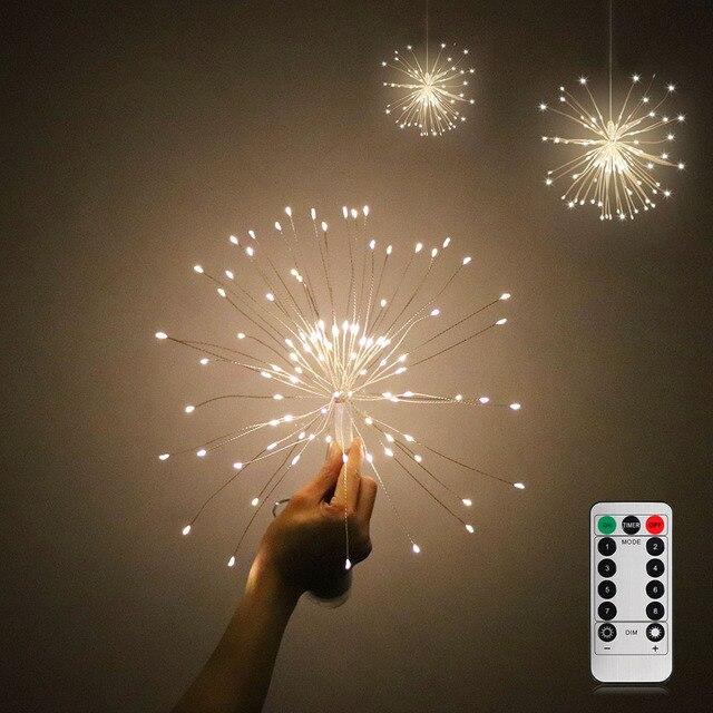 DIY Fireworks Light Foldable Bouquet Shape LED String Decorative Fairy Lights For Garland Patio Christmas Light * EGH023
