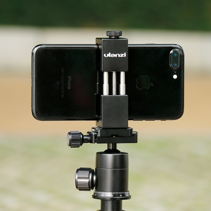 HOMEM DE FERRO Ulanzi Smartphone Tripé Universal Metal de Alumínio Telefone Adaptador de tripé Stand Titular para o iphone X 8 7 plus Samsung