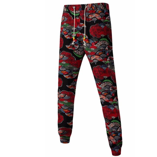 Corredores dos homens Pantalon 2017 Marca Masculina Calças Dos Homens Calças Calças de Impressão Moda Harém Pantalones Sweatpants Jogger GM