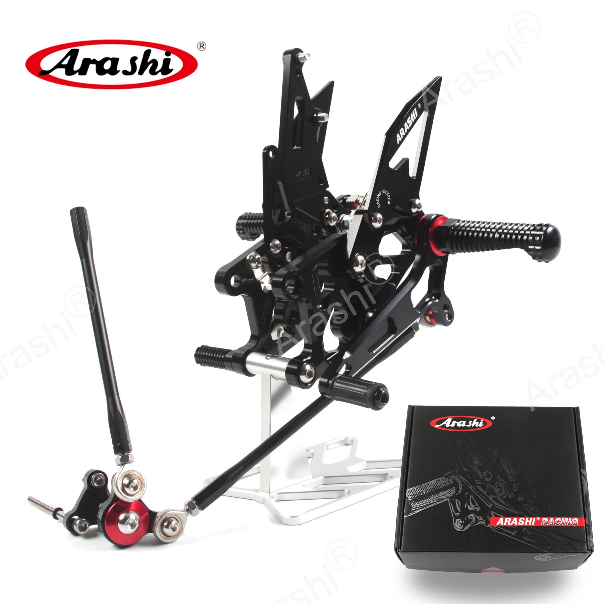 Arashi CNC Adjustable Footrest For HONDA CBR600RR 2009 - 2016 Rider Foot Pegs Rearset CBR600 CBR 600 RR 2013 2014 2015 2016