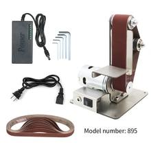 DIY electric mini belt sander Fixed-angle Sharpener Table Cutting Edge Machine Angle Grinder to Belt Sander Wood Metal Working
