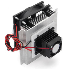 12V 6A Thermoelectric Peltier Refrigeration Cooling System Semiconductor Cooling System Kit high quality thermoelectric peltier refrigeration cooling system kit cooler 2 x double fan diy new