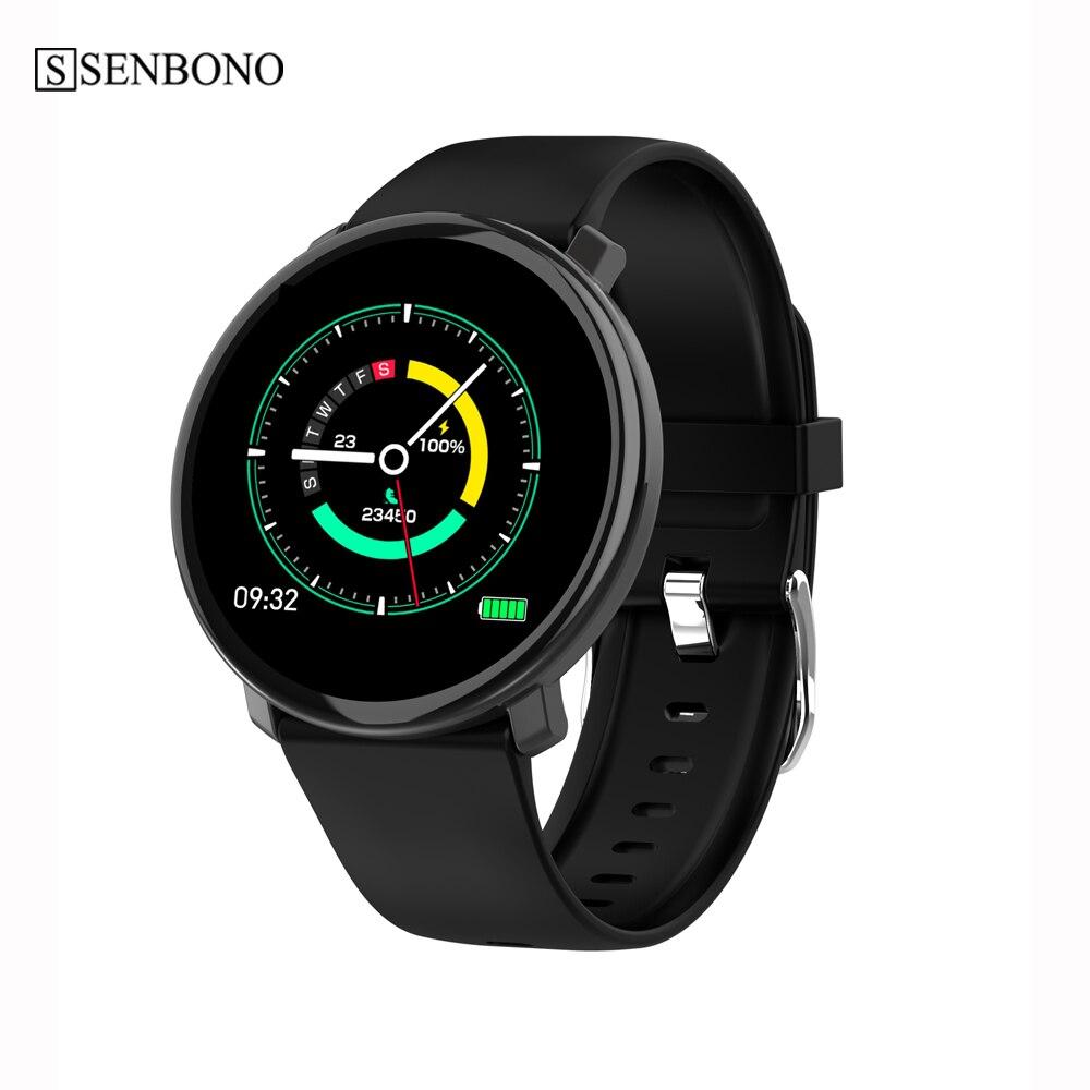 SENBONO Smart Watch Men Women Waterproof Clock Activity Fitness tracker Heart rate monitor Smartwatch for IOS