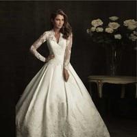 Wedding Dress Lace Ball Gowns Celebrity Satin Long Sleeve Kate Middleton Vestido De Noiva Boda Louisvuigon