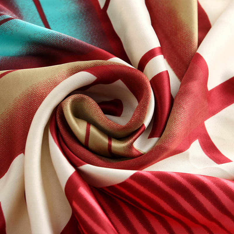Bufanda de marca de lujo bandana de mujer de la india bufandas y stoles rojo impreso foulard chales y bufandas de mujer