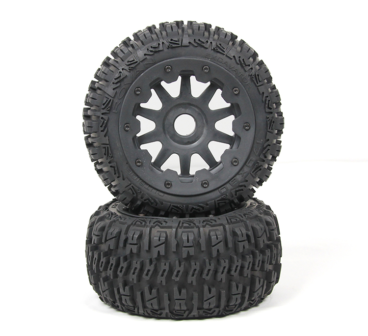rear three generations of baja 5B wasteland tire wheel assembly, metal core 95193 rv baja 5b wasteland of iii generations of high strength nylon wheel front tire assembly 95194