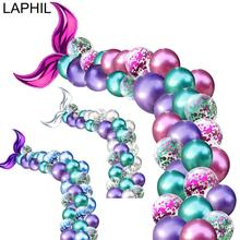 LAPHIL 44pcs Little Mermaid Party Palloncini Decorazione Della Sirena Festa Di Compleanno Per Bambini Favori di Cerimonia Nuziale Partito di Evento Sfondo Forniture