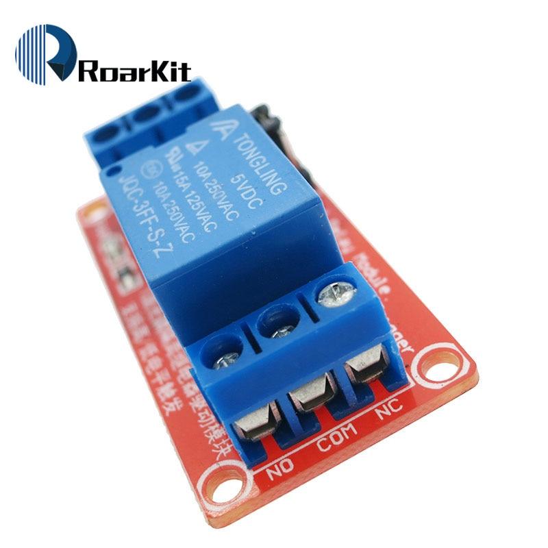 Релейная плата модуля 1 канала 5 В/12 В, защитная плата с опора для оптопары, высокий и низкий уровень триггера для Arduino