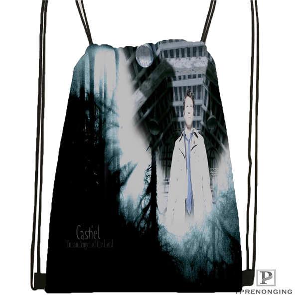 Custom H13966-supernatural  Drawstring Backpack Bag Cute Daypack Kids Satchel (Black Back) 31x40cm#180612-02-36