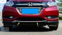Lapetus Chrome Front Rear Lower Bumper Decoration Frame Cover Trim 2 Pcs ABS Fit For Honda HRV HR V Vezel 2014 2015 2016 2017