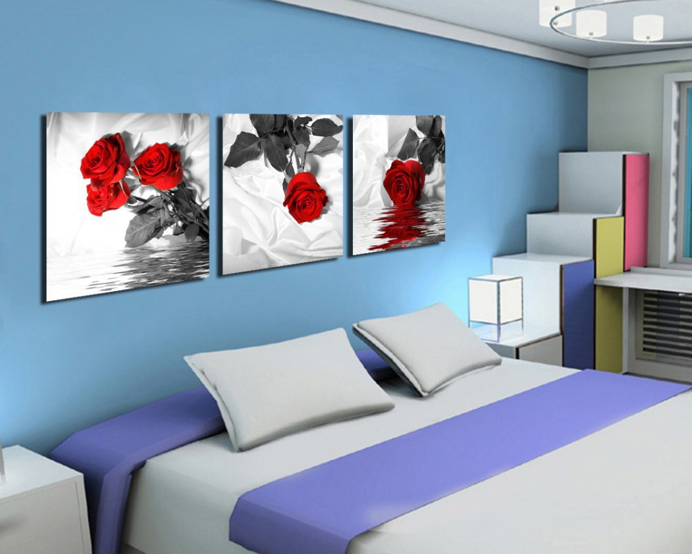 compare prices on 3 piece bedroom canvas wall art- online shopping