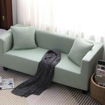 Spandex Stuhlhussen | 2019 Braun Einfache Dicke Nähte Sofa Cover Schutzhülle Stretch Elastische Spandex/Polyester Stuhl Sofa L Form Schnitts