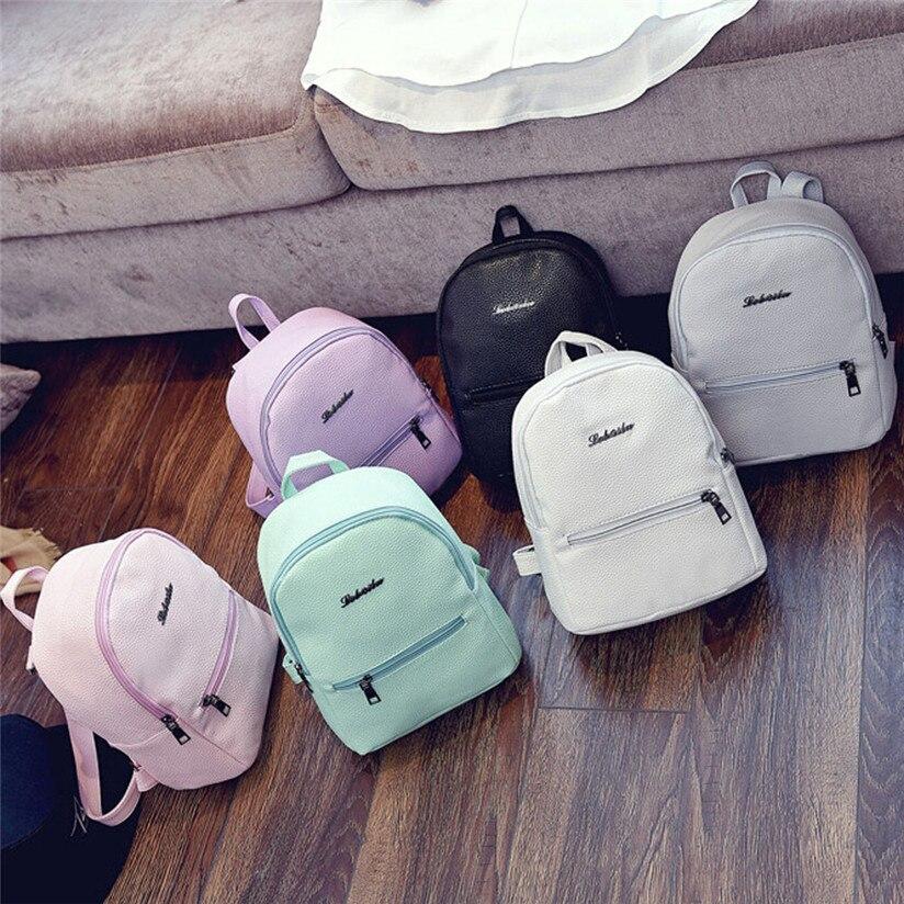 66a4ceb0f8f TRANSER Female Fashion New Girls Leather School Bag Travel Backpack Satchel  Women Shoulder Rucksack High Quality Zipper Aug17