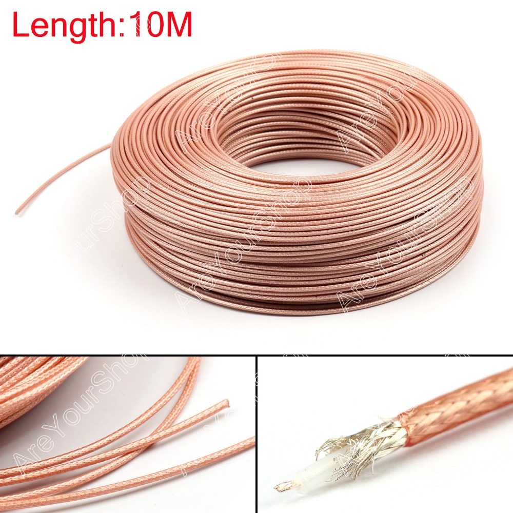 Areyourshop Sale 1000CM RG179 RF Coaxial Cable Connector 75ohm M17/94 RG-179 Coax Pigtail 32ft Plug areyourshop hot sale 50 pcs musical audio speaker cable wire 4mm gold plated banana plug connector