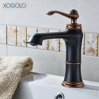 Xogolo Wholesale And Retail Modern Style Luxury Bathroom Faucet Deck Mounted Single Handle Solid Brass Basin