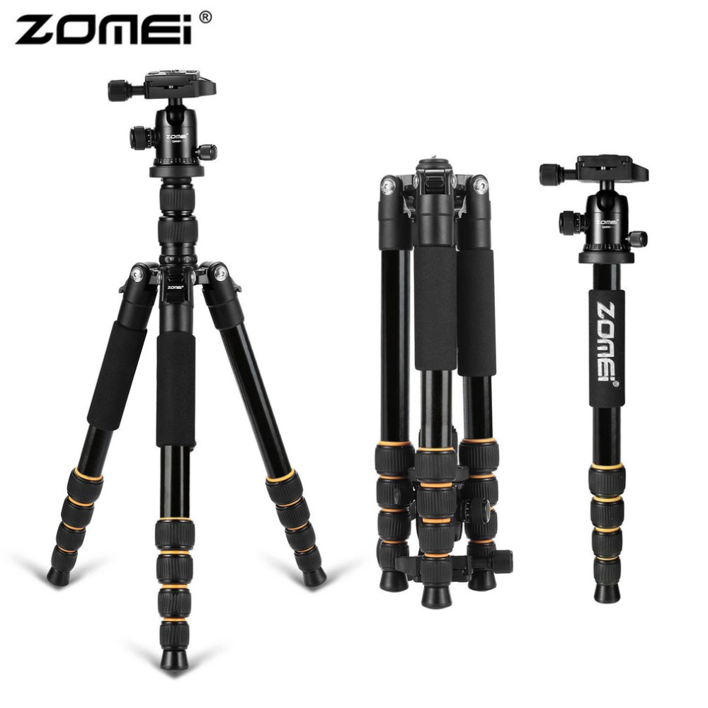 Zomei Professional Portable Travel Camera Tripod Lightweight Aluminum Monopod With 360 Degree Ball Head For DSLR Canon Camera zomei z888 portable stable magnesium alloy digital camera tripod monopod ball head for digital slr dslr camera