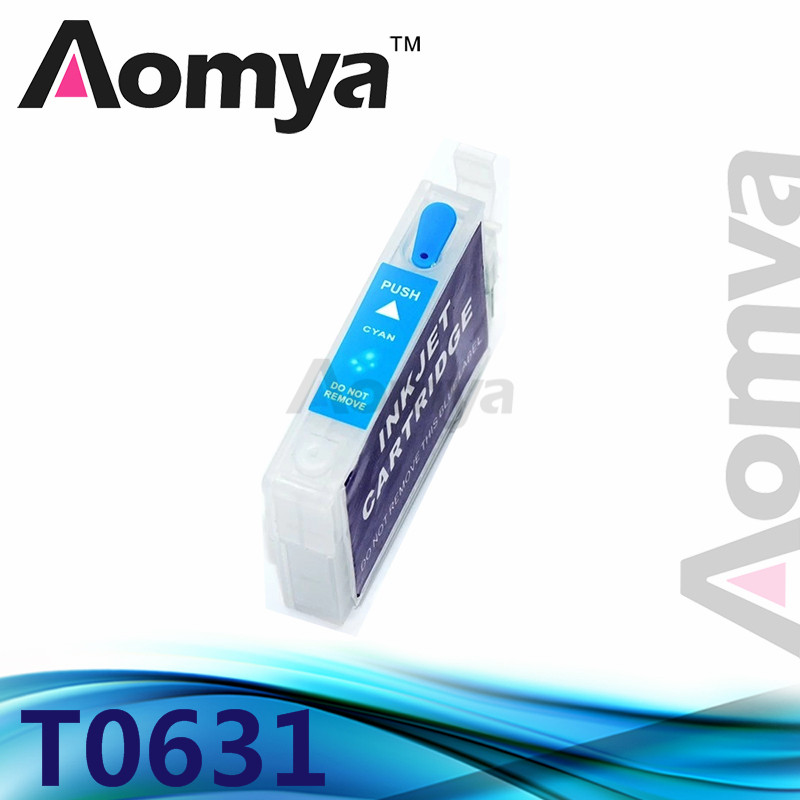 цены  1pcs Cyan T0632 Empty Refillable Ink Cartridge For Epson Stylus C67/C87/CX3700/CX4100/CX4700 Printer With Chip Without Ink
