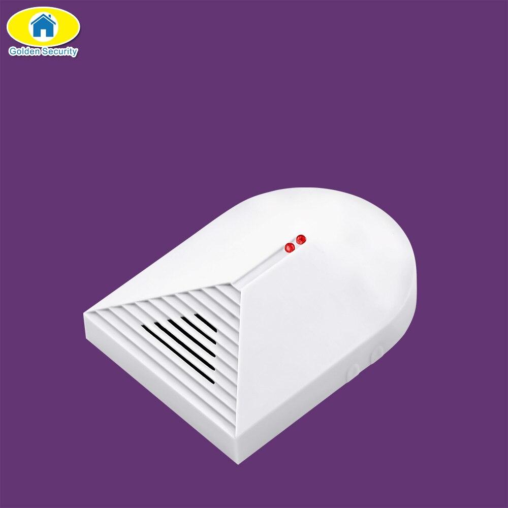 Golden Security Wireless Glass Break Detector Sensor for Home Burglar Security Alarm Adjustable Sensitivity 433MHz