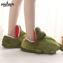 Cartoon Crocodile Slippers Funny Cute Animal Shoes Green Sneakers Unisex Women Men Adult Carnival Holiday Party Play Games Wear