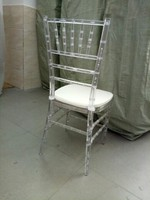 100pcs Free shipping by sea Wholesale Wedding Acrylic Plastic Clear Chiavari Wedding Chair With pillow
