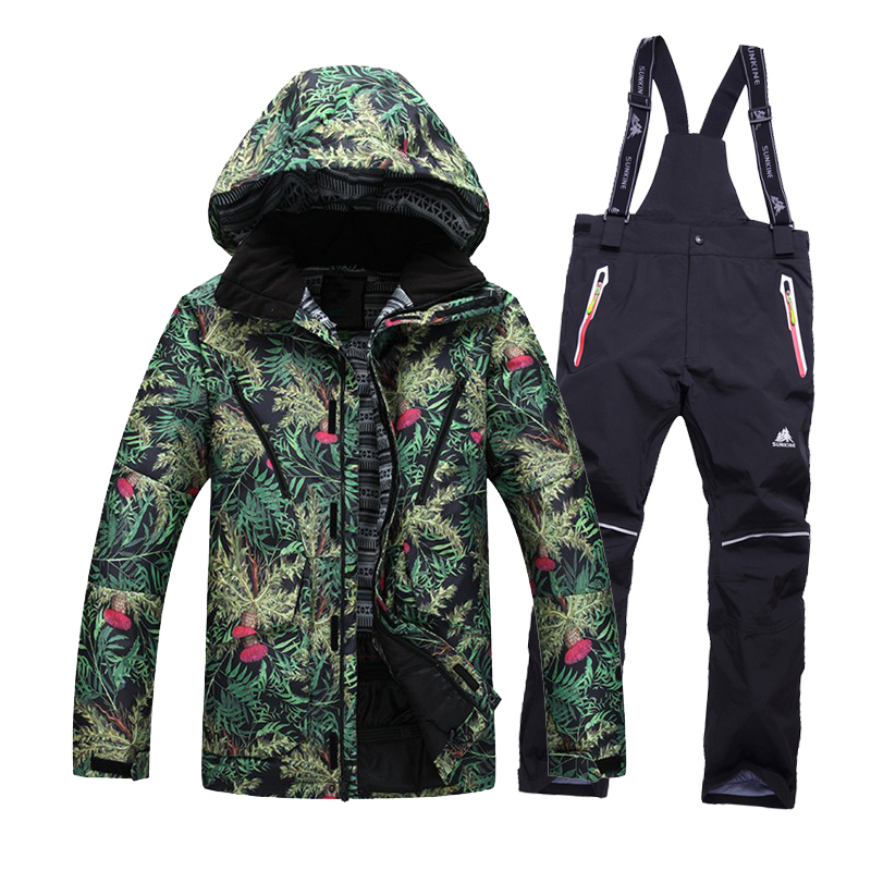 Free shipping Men Ski Jacket pants Cotton Padded Snowboard Clothes Outdoor font b skiing b font