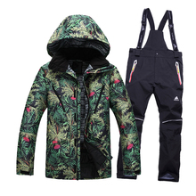 Free shipping Men Ski Jacket+pants Cotton Padded Snowboard Clothes Outdoor skiing suit Sport high quality Windproof Thicken Coat