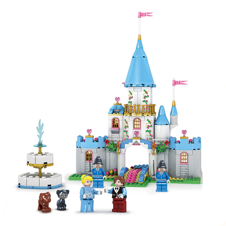 KAZI Toys Princess Belle's Enchanted Castle Building Blocks Girl Kids Toys Compatible With Legoe Enlighten Bricks For Kids kazi 6pcs set pirates ghost boat compatible legoe ship model construction building blocks bricks enlighten toys for children boy