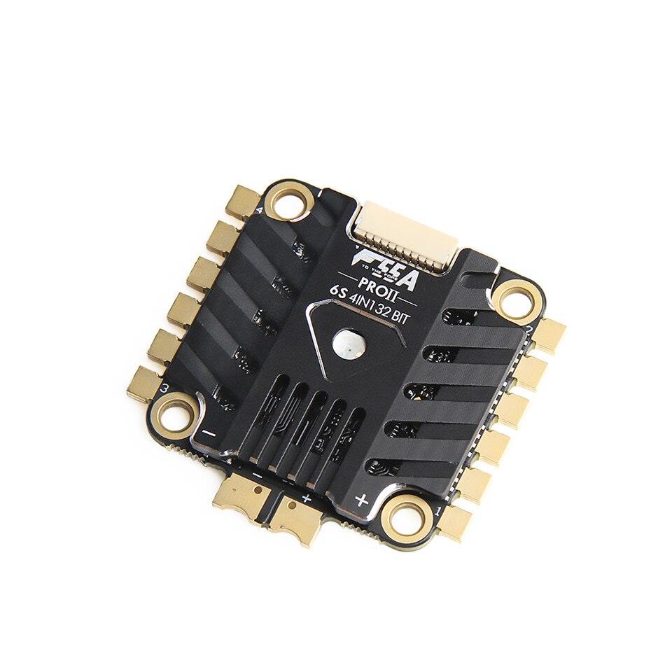 F55A PRO 6 S 4IN1 32bit 6 S 4IN1 de 32 bits ESC w LED BLHELI 32 DSHOT1200 FPV sin escobillas ESC con 10 V BEC ESC para FPV que compite con el zángano - 2