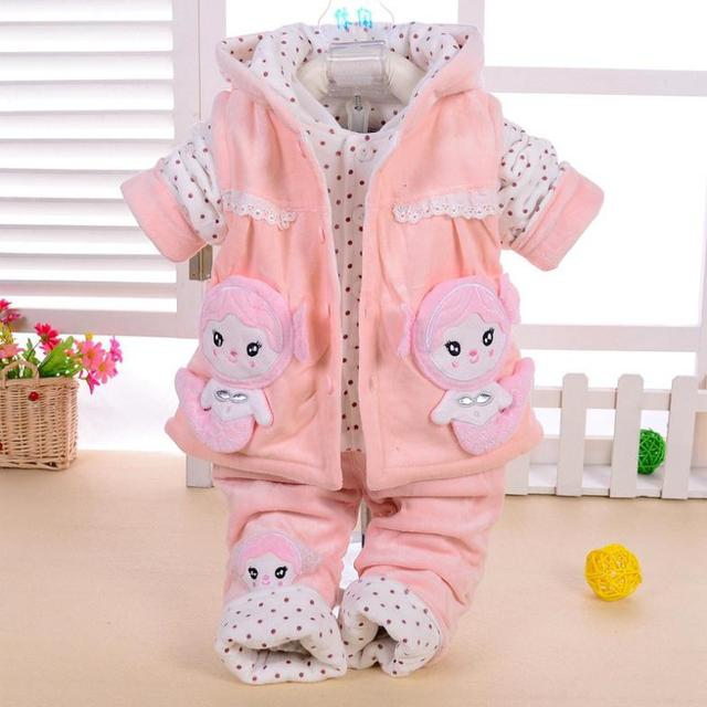 1-3 Years Old Baby Clothing Set Spring Winter Toddler Girls Clothes Set Baby Boy Clothing Kids Clothes Girls Snowsuit