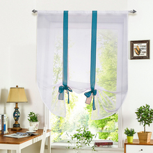 1pcs European IBANO Roman Curtain Home Wave Blinds Stitching Colors Room Balcony Tieblinds Curtains Multi-size Colorful