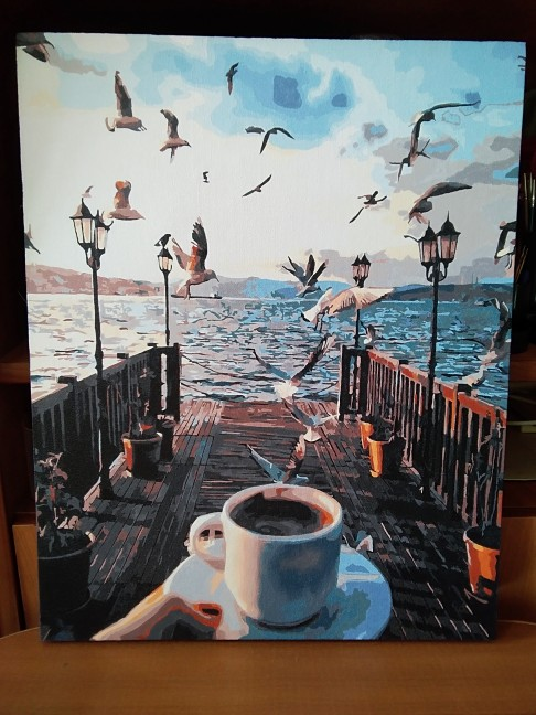 Unframe Diy Picture Oil Painting By Numbers Paint By Number For Home Decor  Canvas Painting 4050cm My Coffee #1