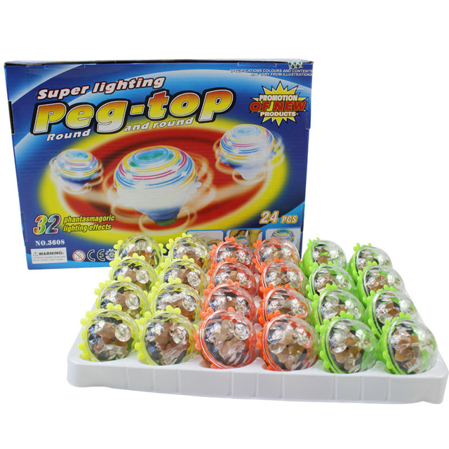 Colorful shiny spinning top child baby educational toys