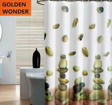 Free shipping 2014 New Arrival Thickening High Quality Waterproof Shower Curtains 180cm Yellow Sun Flower 71inches Fabric