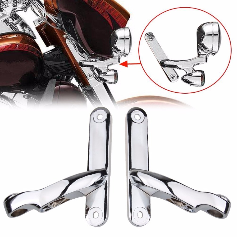 Auxiliary Lighting Brackets fog light with turn signals Parts For Harley Street Glide FL ...