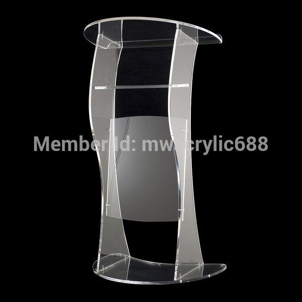 Pulpit Furniture Free Shipping Soundness Modern Design Cheap Clear Acrylic Lectern Acrylic Podium Plexiglass