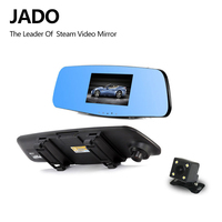 JADO D620S Car Camera Dvr 4 3 Full HD 1080P Mirror With Rearview Dual Lens Video