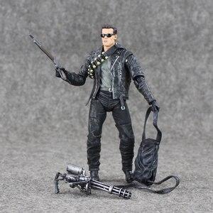Image 5 - 17cm NECA Terminator 2 T 800 aksiyon figürü Pescadero kıyamet günü hastane bebek PVC Model oyuncak