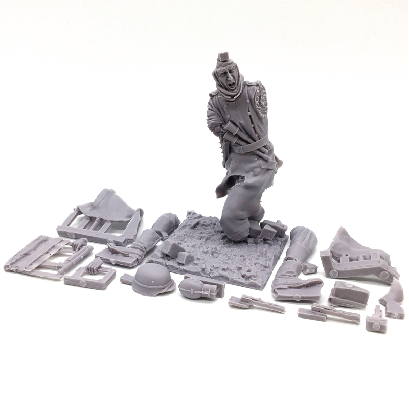 Resin figures 1/16 ww2 germany resin historical model kits soldier Unpainted Free Shipping free soldier черный маленький