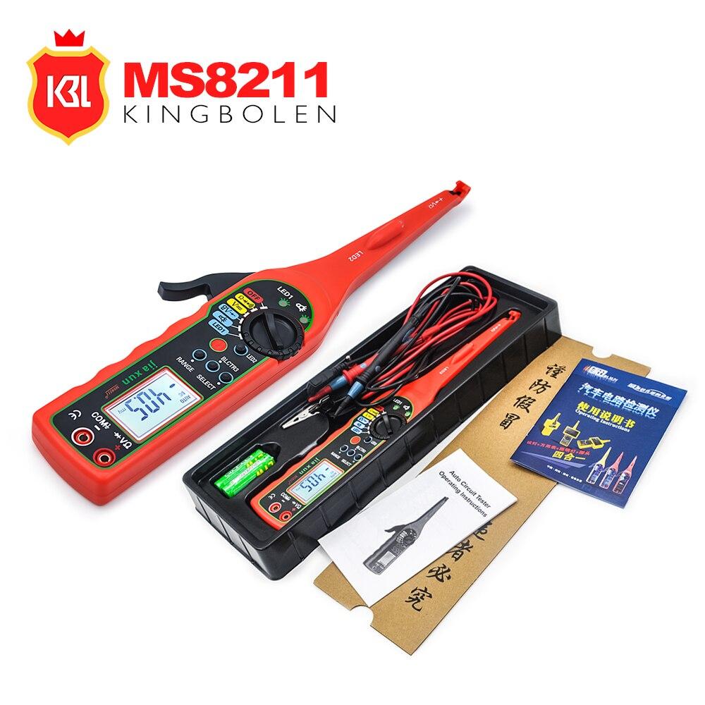 Digital Multimeter MS8211 Power Electric Circuit Multi function Automotive Electrical Multimeter Lamp Car Repair LCD detector