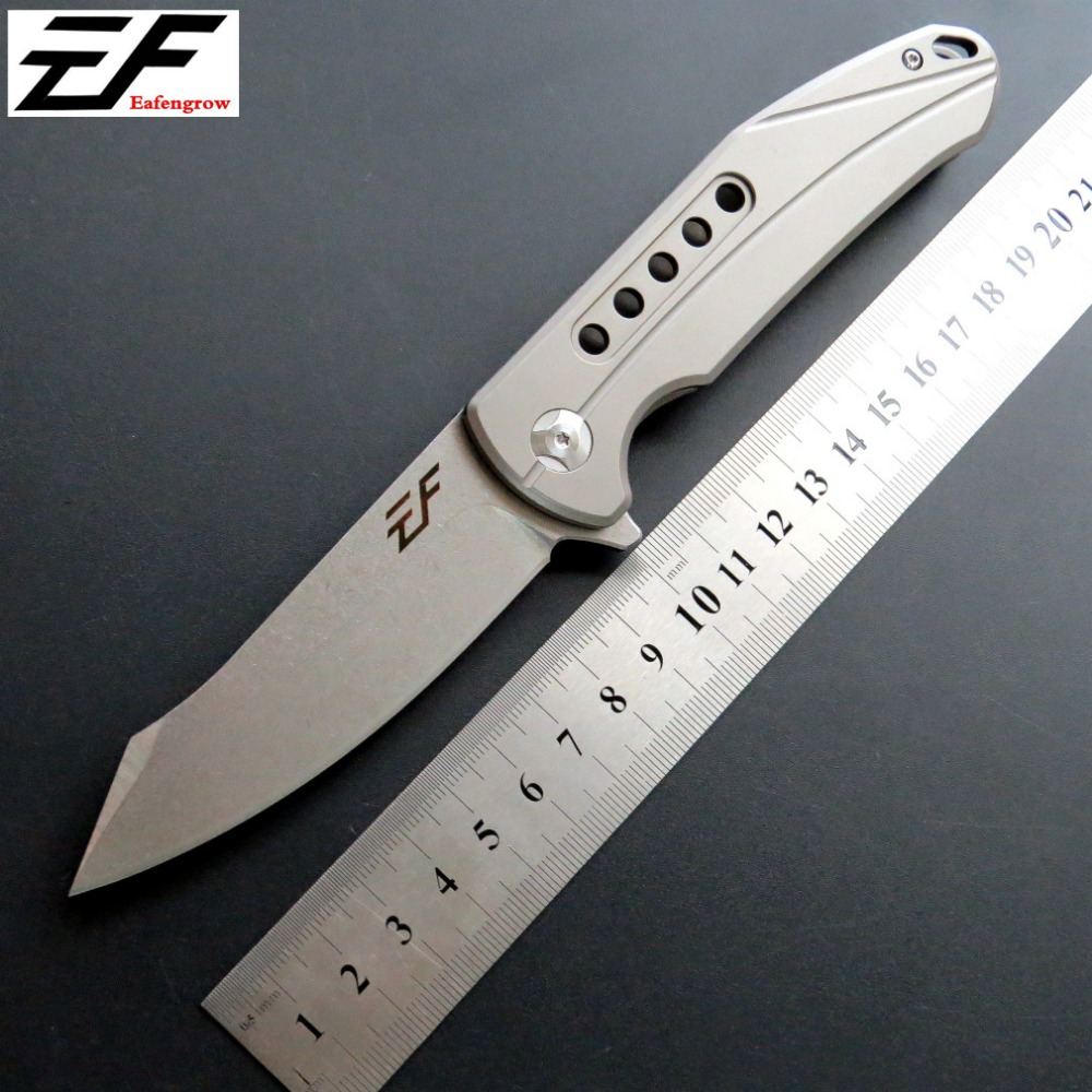 Eafengrow EF229 Pocket Folding Knife D2 Steel Blade Titanium Handle EDC Camping Tools Outdoor Knives pegasi browning fixed tactical folding pocket knife titanium coating 440c stainless steel blade outdoor edc knives