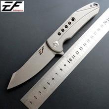 Eafengrow EF229 Pocket Folding Knife D2 Steel Blade Titanium Handle EDC Camping Tools Outdoor Knives